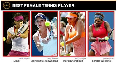 网球女运动员_