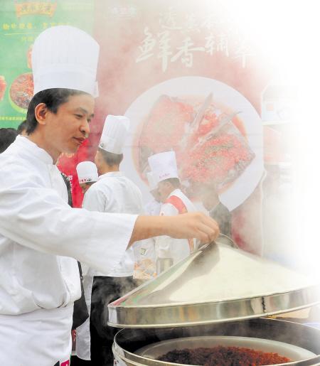 厨师雕刻凤凰步骤图片