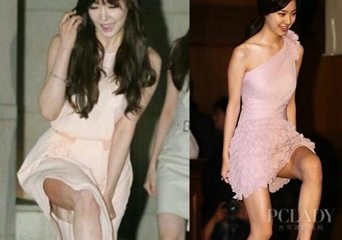 【爱美】美女也作弊 少女时代大腿上妆被抓包
