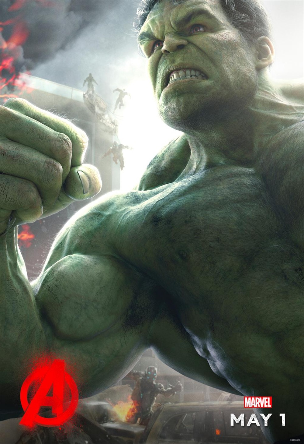 复联2 曝光绿巨人角色海报 浩克暴走大战在即