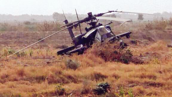 沙特阿帕奇武装直升机在也门遭地空导弹击落(
