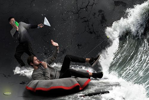 笔筒当防毒面具脚垫变浮板 自救家具成米兰设计周亮点