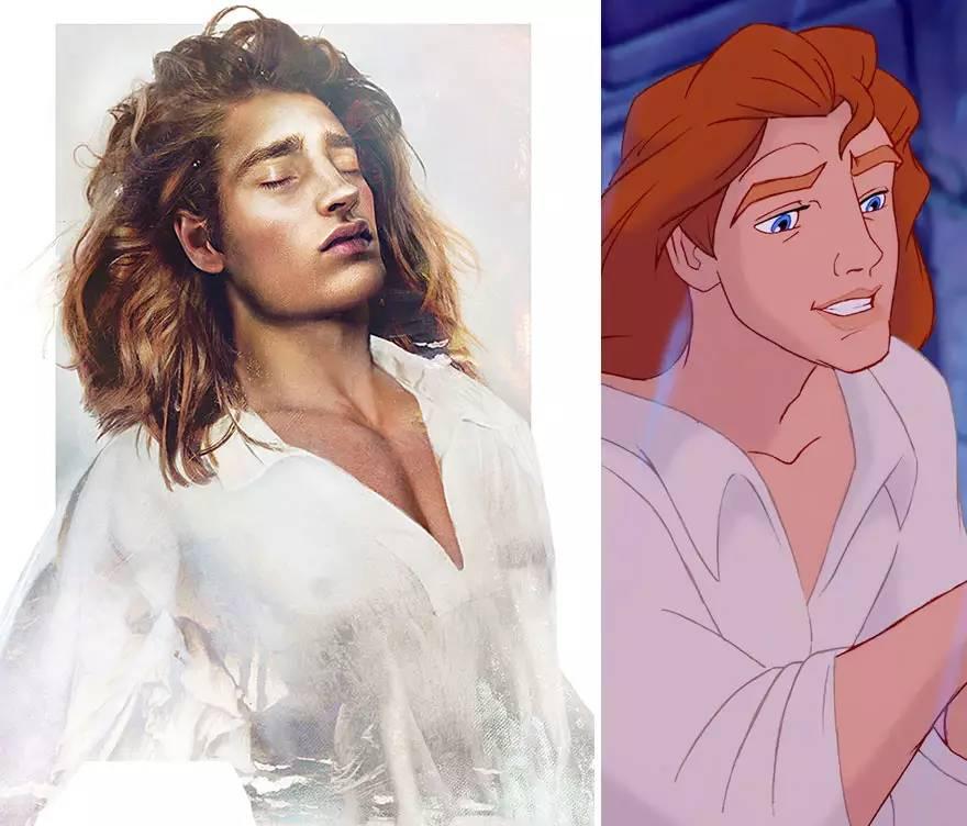 美女与野兽里的adam王子