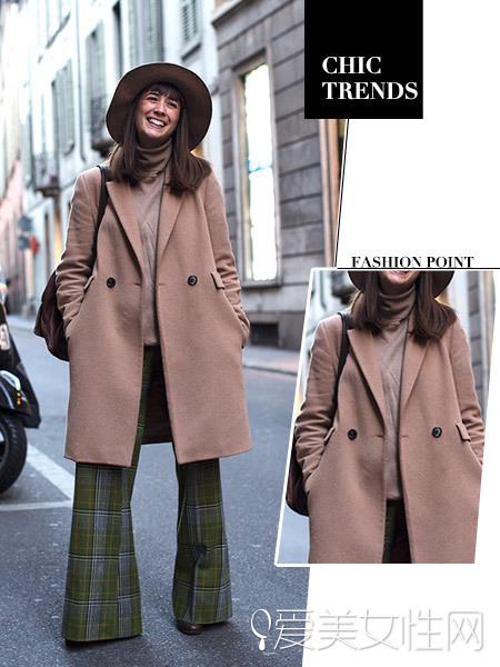 呢子大衣搭配裤装 成为冬天时髦选择
