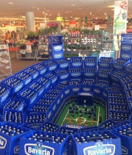 超市为世界杯做的促销!