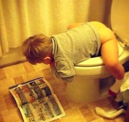 上厕所主要是为了看书!