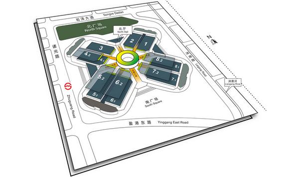 2015上海车展展馆分布图