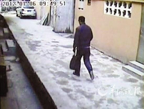 犯罪嫌疑人逃离现场视频截图