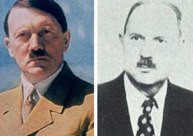 阿道夫/德国纳粹头目阿道夫?希特勒和据称是他的私生子的法国人让/...