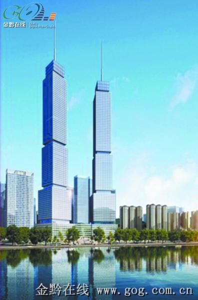 406米地标级双子塔引领高端商圈