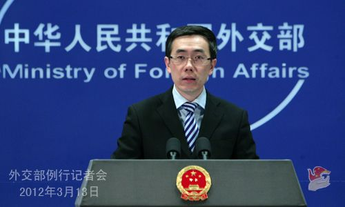 人民网北京3月13日电 2012年3月13日,外交部发言人刘为民主持例行记者会。
