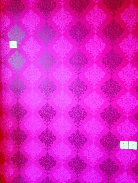 桃红色,菱形,混搭拼接的地砖,入户花砖设计……到处洋溢奇思妙想.