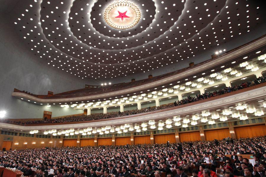 3月14日,第十一届全国人民代表大会第五次会议在北京人民大会堂举行