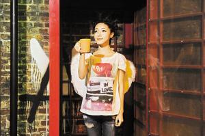 邓家佳在《十三角关系》中扮演少女安琪。(资料图片)