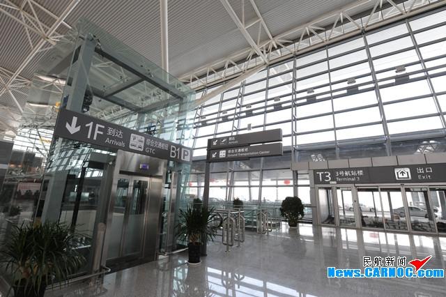 图4:咸阳机场T3A航站楼内标识清晰明了.摄影:奥斌-西安咸阳国际