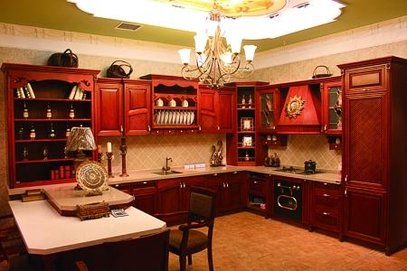 欧式红木厨房