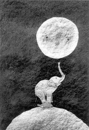 月亮的味道绘本图片ppt-像纽扣一样的星星