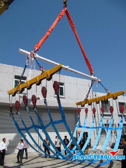 烟台机场飞机应急顶升气囊吊挂设备交付使用