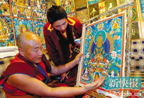 168万!西藏新唐卡售价创纪录