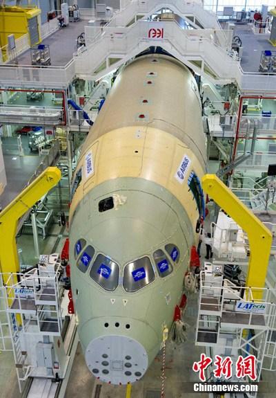 首架空中客车a350xwb宽体飞机开始总装(图)