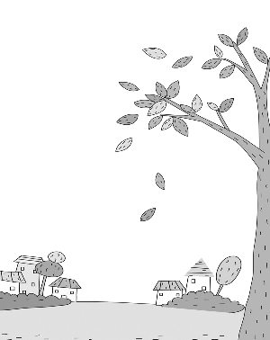 大树落叶的图片简笔画 图片合集