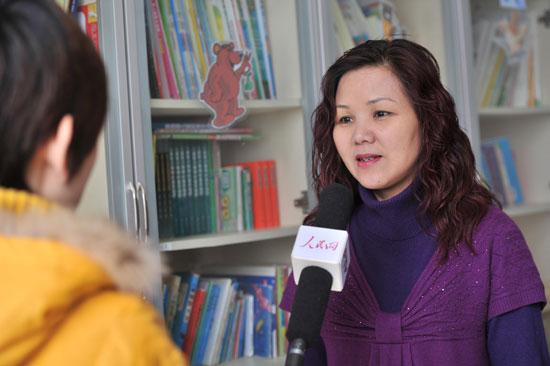 青岛市自闭症研究会创办人,理事长方静(人民网记者于凯摄)