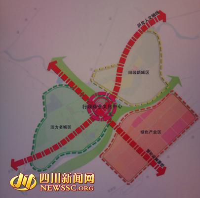 寿安新城功能结构规划图