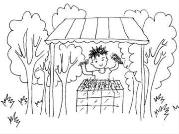 儿童简笔风景画