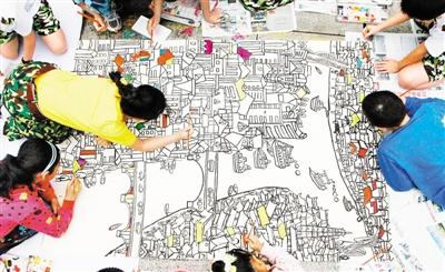 合川:儿童画家乡画生活