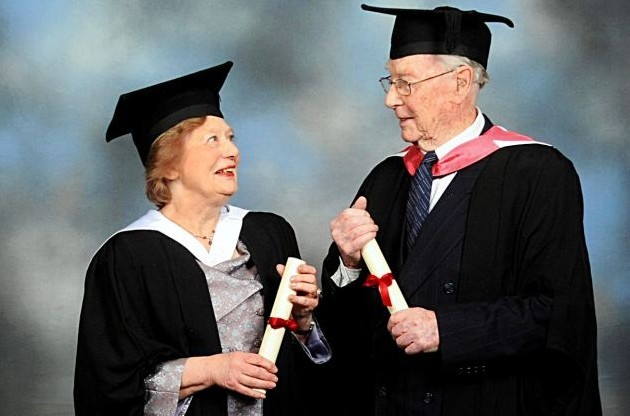 英91岁老翁拿硕士学位拟攻读博士