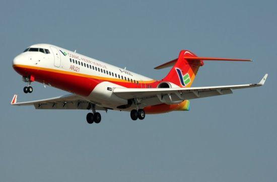 ARJ21-700型国产支线飞机(资料图)