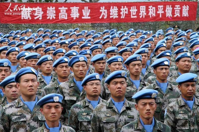 高清:中国第十批赴南苏丹维和部队在济南军区