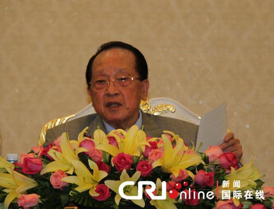 东盟轮值主席国、柬埔寨副首相兼外交部长贺南洪20日下午在金边举行新闻发布会。