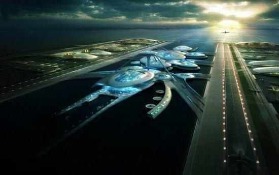 这些新飞机跑道能够按照需要漂浮在水面上