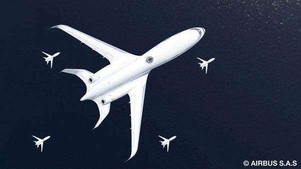 图3:空中客车飞机编队飞行场景 飞机着陆时也可以通过自由滑翔而无需