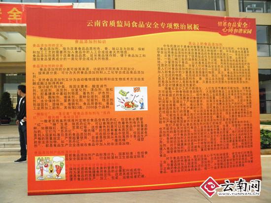 云南省质监局食品安全专项整治展板