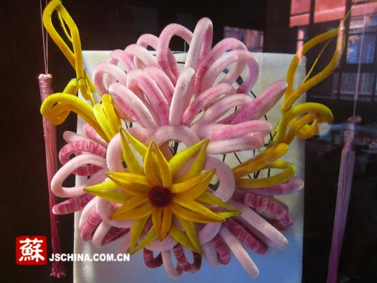 绒条手工制作花