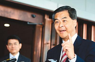 梁振英表示,国教科在撤回和不撤回之间,有很大的讨论空间和商量余地。