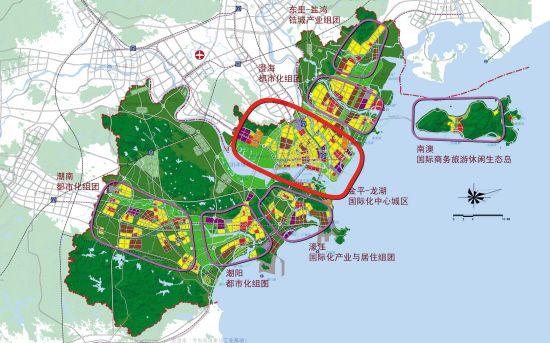 汕头市域总体空间规划图-升级特区2.0 构建精致汕头