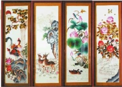 刺绣艺术名片素材
