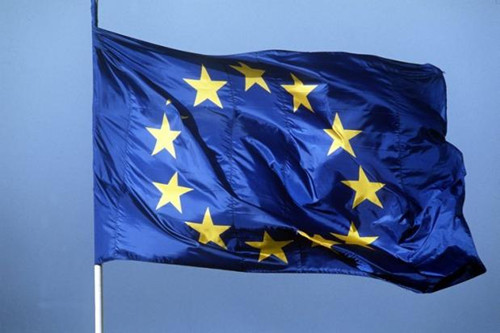 图为欧盟会旗。