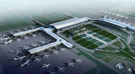 咸阳机场俯视图