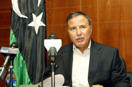 资料图:利比亚国防部长乌萨马·朱韦利