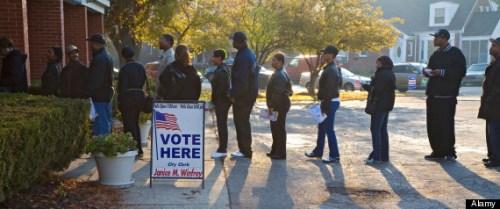 资料图:美国大选投票现场