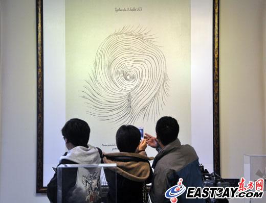 1879年的台风眼手绘图