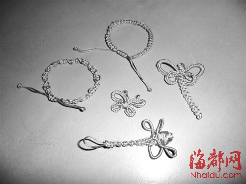 diy绳结——蜻蜓,蝴蝶和手镯