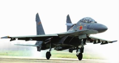 中国空军列装的苏-27。