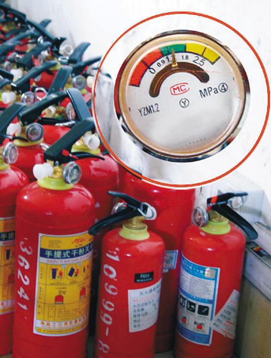 沈阳消防给驾驶员提个醒 车载灭火器也有保质期