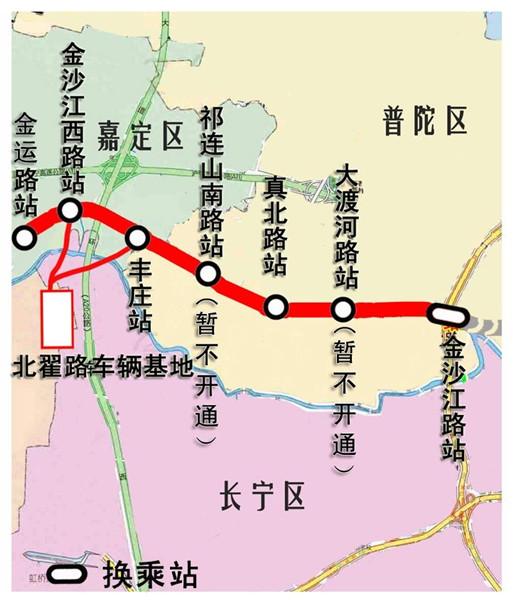 13号线一期西段空车试运行 江桥居民可在金沙江路换乘图片