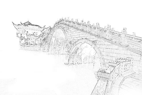 手绘简单木凤凰铅笔画